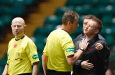 Not 1, not 2… 8 match ban for Steve Lomas after Celtic tirade