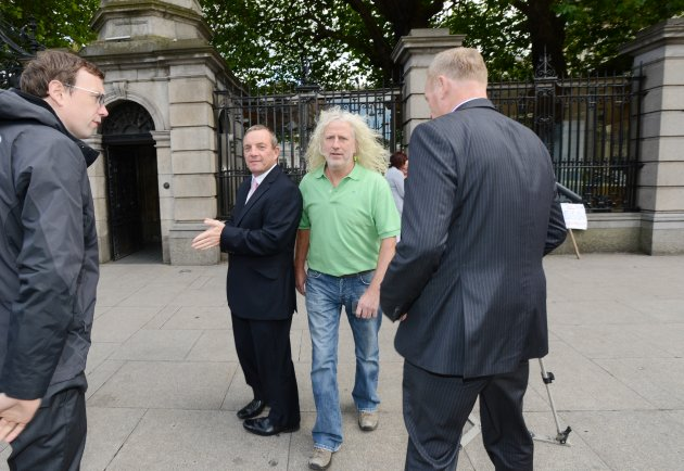 18/9/2012. Mick Wallace TD at Leinster House. This