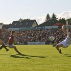 Sligo journey south for a successful raid of Pearse Stadium. Adrian Marren is the scoring star for the Yeats County, chalking up 2-6 overall, as he fires to the net here past Galway goalkeeper Adrian Faherty. (INPHO/Cathal Noonan).