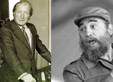 Charles Haughey and Fidel Castro (File photos)