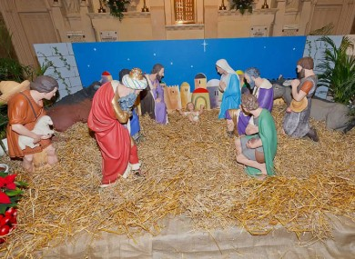 File picture of the crib in St Patrick's Church, Wicklow.