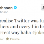 Don't hesitate to follow Glen Johnson, unless you're a Spelling/Grammar Nazi.