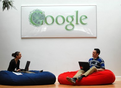 Google employees hanging out at Google Ireland's headquarters in Dublin.