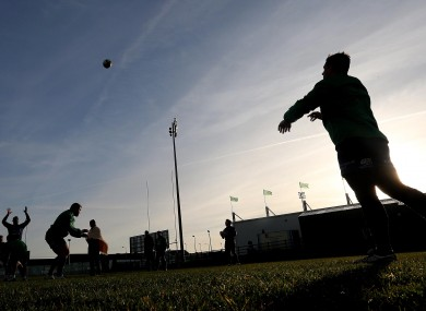 Connacht's rugby stars train in Galway this week.