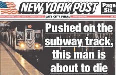 Controversy over NY paper's image of man about to die