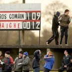 The GAA's pre-season provincial competitions sees rural clubs get the chance to hold inter-county games. Here the Michael Glavey's club in Ballinlough in Roscommon was the location for the home county's FBD League defeat to Mayo with local youngsters employed to man the scoreboard.