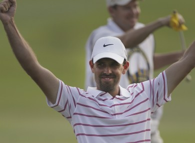 Charl Schwartzel celebrated back-to-back wins on the European Tour on Sunday.