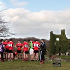 Reigning Sigerson Cup champions UCC take their half time break in front of Blakes Castle at the Dangan sports ground in Galway in this year's semi-final clash. The scenic location is where they bow out of the competition against NUI Maynooth with DCU subsequently being crowned champions the following day. (INPHO/Morgan Treacy).