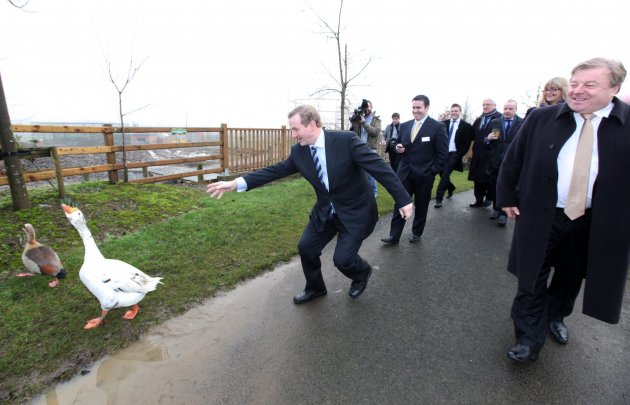 17/1/2013.Taoiseach Enda Kenny plays