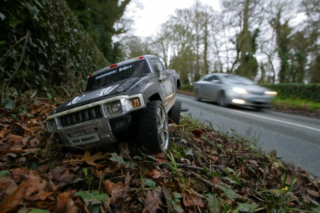 5/1/2013. Truck Crash. A toy Hummer Truck found in
