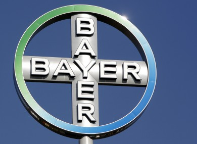 The logo of the Bayer company on top of an office building in Berlin (File photo)