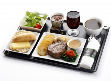 Aer Lingus steak tray.