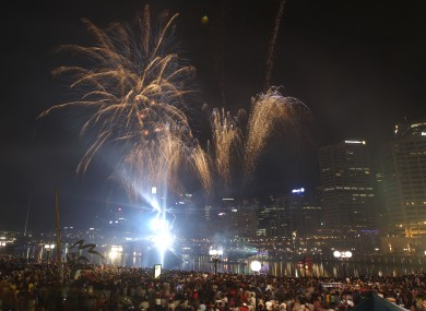 Fireworks light up the sky above Darling Harbour during last year's Australia Day celebrations.