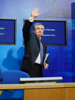The Troika has raised concerns about Brendan Howlin's hopes of saying goodbye to 9,500 public workers by 2014.