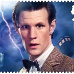 Matt Smith, the current Dr Who, as he appears on the Royal Mail's new stamp. (AP Photo/Royal Mail)