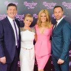 The judges: the nice Robin Cousins, the uber-nice Karen Barber, Pussycat Doll Ashley Roberts and meanie Jason Gardiner. (Image: Dominic Lipinski/PA Wire)