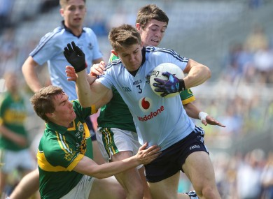 David Byrne in minor action against Kerry last September.