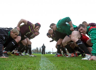 Declan Kidney runs the rule over squad training at Carton House this week.