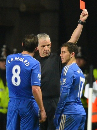 Hazard was dismissed at the Liberty Stadium.