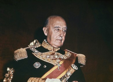 Spanish dictator Francisco Franco is shown in Madrid in 1966.