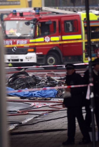 Helicopter crash in London