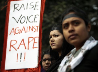 Bangladeshi girls hold placards as they stand to form a human chain to protest against the recent gang rape of a young woman on a moving bus in New Delhi, in Dhaka, Bangladesh, Wednesday, 9 January, 2013.