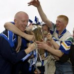A young Mullane is mobbed by fans after their historic victory in Páirc Uí Chaoimh.