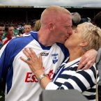 Mullane is congratulated by his mother Kathleen after Waterford's success against Cork.
