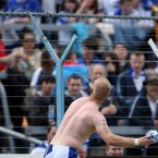 Mullane throws his jersey into the Waterford supporters after what transpires to be his final game for the county.