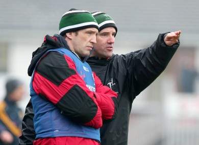 Kildare manager Kieran McGeeney with selector Jason Ryan.
