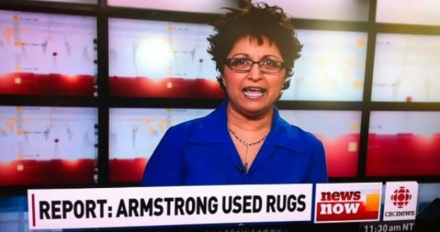 (Picture) Headline FAIL! CBC news accuse Lance Armstrong of a weird crime