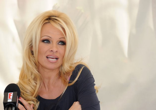 Pamela Anderson Press Conference - Los Angeles