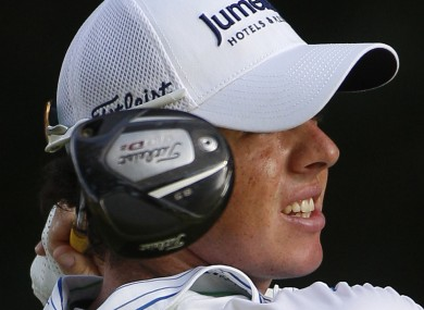 Rory McIlroy: he's going to need a new cap and clubs.