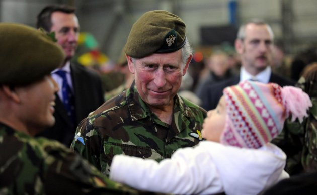 Prince of Wales visits regiments