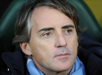 Mancini claimed he only lost his temper with Balotelli for