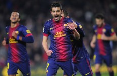 VIDEO: Villa shines for Barca with Messi given the night off
