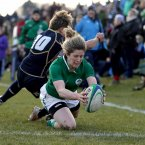 Alison Miller scores her first try of the game. 