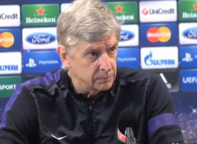 Death stare: Arsene Wenger today.