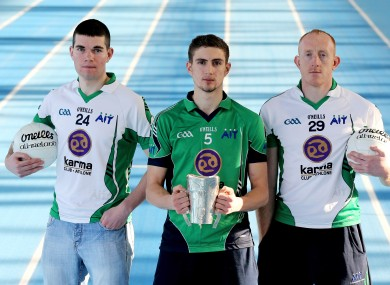 Athlone IT players Cathal Shine of Roscommon, Killian Clarke of Cavan and Gary Connaughton (file photo).