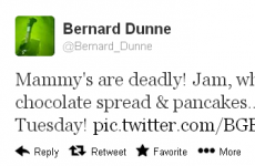 Tweet Sweeper: Bernard Dunne is a big mammy's boy