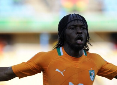 Gervinho: on his way home from South Africa. 