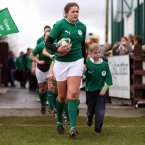 Irish captain Fiona Coghlan was determined to get one over the English. INPHO/Dan Sheridan