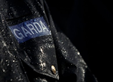A Garda at the State funeral of Detective Garda Adrian Donohoe in Dundalk on Wednesday