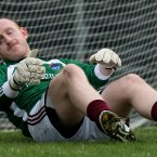 Westmeath goalkeeper Gary Connaughton dejected after conceding a goal. Pic: INPHO/James Crombie