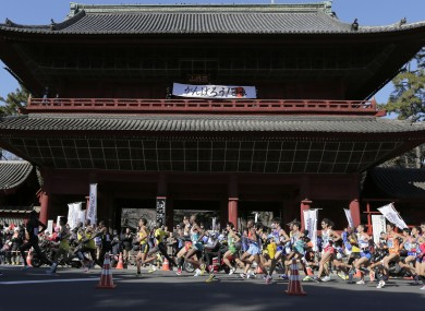 The Tokyo marathon was held in the city yesterday.