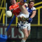 Laois' Kevin Meaney and Brian Mallon of Armagh. Pic: INPHO/Lorraine O'Sullivan