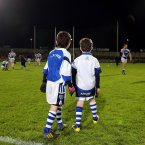 The Laois mascots keep a eye on the warm up. Pic: INPHO/Lorraine O'Sullivan