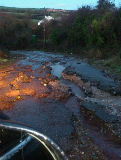Potholes, loose chippings, floods: Welcome to Ireland's rural roads