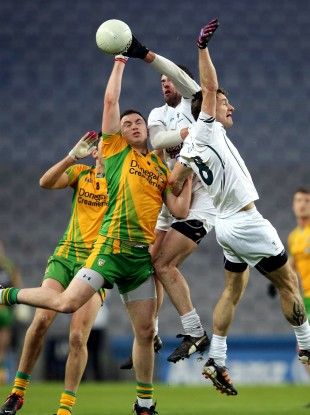Action from Saturday's clash between Donegal and Kildare.