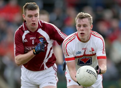 Westmeath's Paul Bannon and Jim McEneaney of Louth.